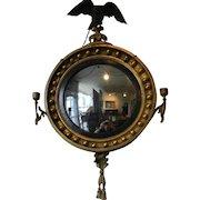 Gilt Convex Mirror