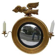 19th Century Gilt Convex Mirror