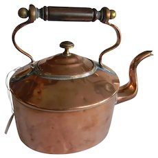 Copper 19th Century Tea Kettle