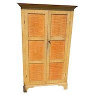 19th Century Paint Decorated Wall Cupboard