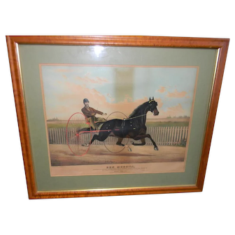 19th Century Horse Racing Print of Ben Morrill