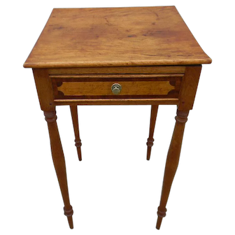New England Inlaid Side Table
