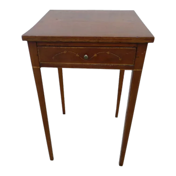 Cherry Inlaid American Side Table