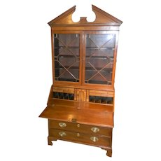 Mahogany 2 Piece Secretary Desk