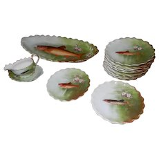 Limoges Fish Set