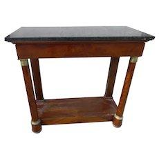 19th Century French Mahogany Pier Table