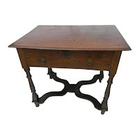 Early 18th Century Oak Lowboy or Side Table