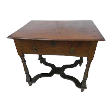 Early 18th Century Oak Lowboy or Side Table