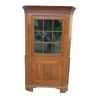18th Century Pine Corner Cupboard of American Origin
