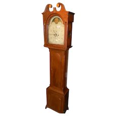 Cherry Inlaid Grandfather Clock of Philadelphia Origin