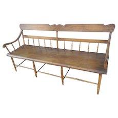 Circa 1825 Pennsylvania Plank Seat Settee