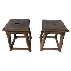 Pair 18th Century Joint Stools