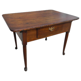 A Queen Anne Walnut Pennsylvania Farm Table Circa 1740-65