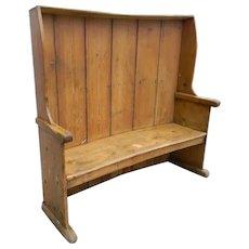Pine Antique Settle Bench