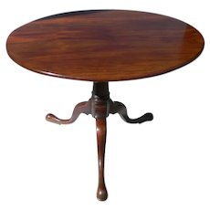 Southern Mahogany Tilt Top Tea Table Circa 1750