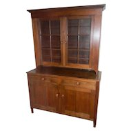 19th Century 2 Part Step Back Cupboard