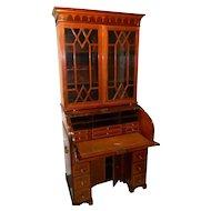 Early 19th Century Tambour Roll Top Secretary Desk