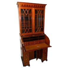 Early 19th Century Tambour Roll Top Secretary Desk