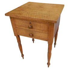 Tiger Maple Circa 1815 American Side Table