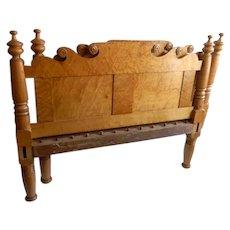 Tiger Maple Bed Circa 1815