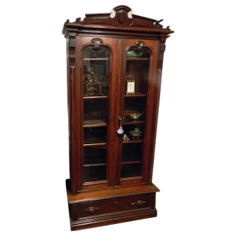 Victorian Walnut Bookcase
