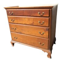 Chippendale Walnut Fluted Corner Column Chest of Southern Origin