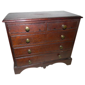 An 18th Century Miniature Chest of Drawers