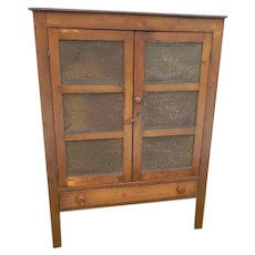 Antique American Walnut Pie Safe with Punched Tins