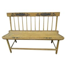 Early Antique American Painted Settee