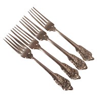 Wallace Grand Baroque Sterling Silver Dinner Forks (4)