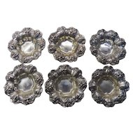 Reed & Barton Francis 1st Sterling Silver Nut Dishes Set of Six X569