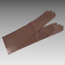 Real Kid Vintage Gloves Made in France for Bergdorf Goodman size 6 3/4 Unworn