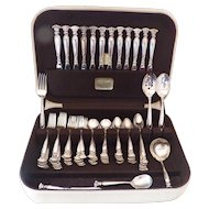 Wallace Romance of the Sea Sterling Silver Flatware Set Service for 12 Cameo Chest