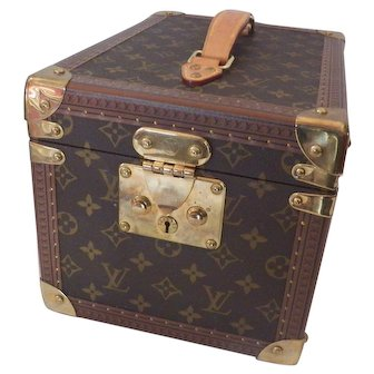 Authentic Louis Vuitton Monogram Hard Make up Case