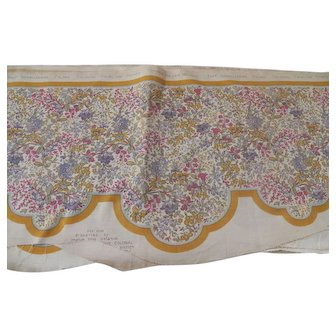 Vintage Cotton Colonial Chintz Valance or Cornice Cover.  Very long