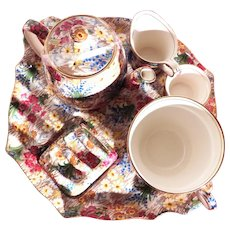 Vintage Royal Winton Chintz Breakfast Set Six Piece
