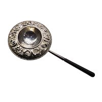 Sterling Silver  Repousse Tea Strainer made by Galt & Bros.