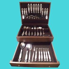 XL Georg Jensen Acorn sterling silver flatware set 71pc, no monograms