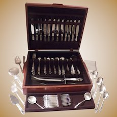 Royal Danish by International sterling silver flatware set 111 pieces 17 servers