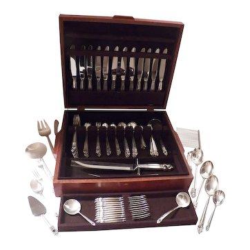 Royal Danish by International sterling silver flatware set 111 pieces 17 servers