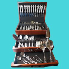 Reed & Barton Francis 1st Sterling Silver Flatware Set 147 Pieces Dinner & Luncheon 15 Servers