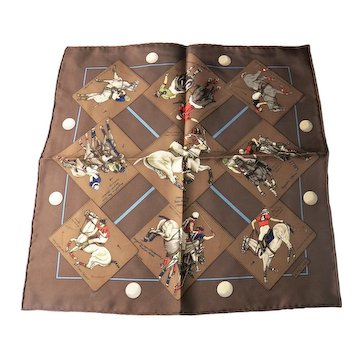 Hermes silk scarf Polo Competition unworn
