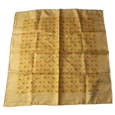 "Hermes silk scarf Chickens and Origami  16"" unworn"