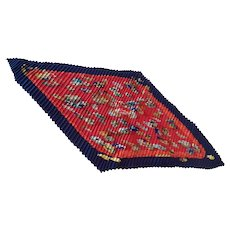 "Hermes silk scarf Couvee d' Hermes pleated 35"" unworn with box"