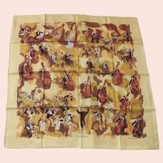 Hermes silk scarf Concerto with box