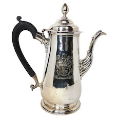 Georgian Newcastle sterling silver coffee pot 1751