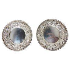 Kirk & Son small coin silver plates, no monograms