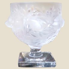 """LALIQUE (France) - Exquisite Clear and Frosted  """"Elizabeth""""  Vase - Exquisite As Only Lalique Can Be!"""