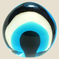 Intriguing Art Glass Paperweight, Different From Every Angle!