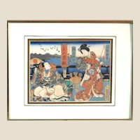 Utagawa Kuniyoshi   (Japanese, 1798-1861) Woodblock  With Two Figures